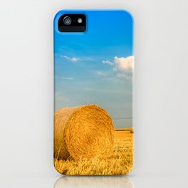 Haye bale in the harvest time iPhone Case
