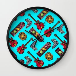 Back to the Future Pattern Wall Clock