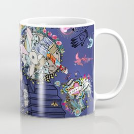 RABBIT Navy in the matrix of love Coffee Mug