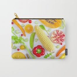 Fruits and vegetables pattern (12) Carry-All Pouch