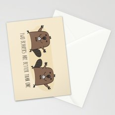 Two Beavers Are Better Than One Stationery Cards
