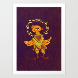 Hola Holy Chicken Art Print