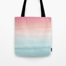 Touching Watercolor Abstract Beach Dream #1 #painting #decor #art #society6 Tote Bag