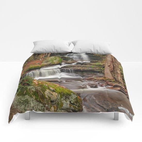 Ricketts Glen Waterfall Layers Comforters