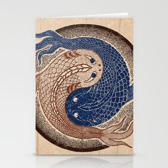shuiwudáo yin yang mandala Stationery Cards