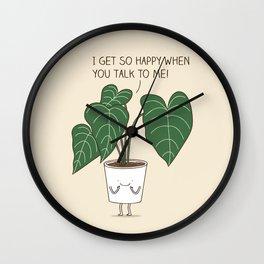 Plant talk Wall Clock