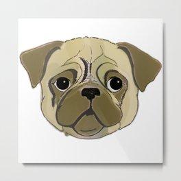 Pugga-Lugg Lugg Pug Metal Print