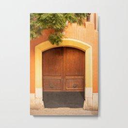 Colourful door in Palma de Mallorca - travel photography  Metal Print