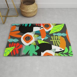 Tropical vibe with toucans Rug