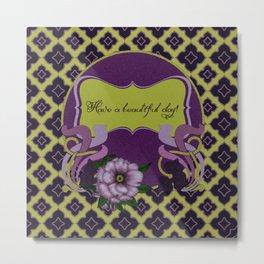 Nouveau Purple Peonies Metal Print