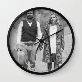 The Runaways BW Wall Clock