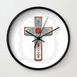 Blue Sky Cross Wall Clock