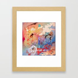 Chilling In The Afterlife Framed Art Print
