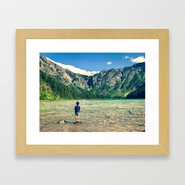Avalanche Lake, Montana Framed Art Print