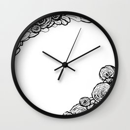 Modern Wreath Wall Clock