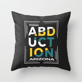 ABDUCTION | UFO Art Throw Pillow