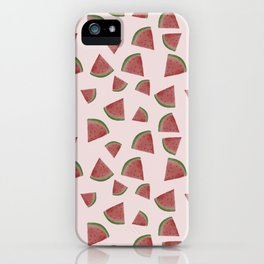 Watermelon illustration in watercolour iPhone Case