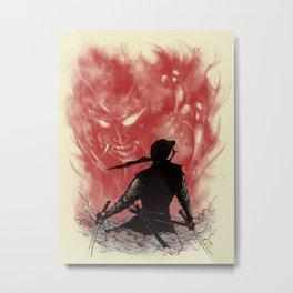 Ronin Versus Oni Metal Print