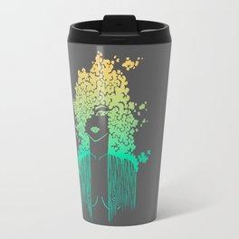 Silhouette gradient of a girl Travel Mug