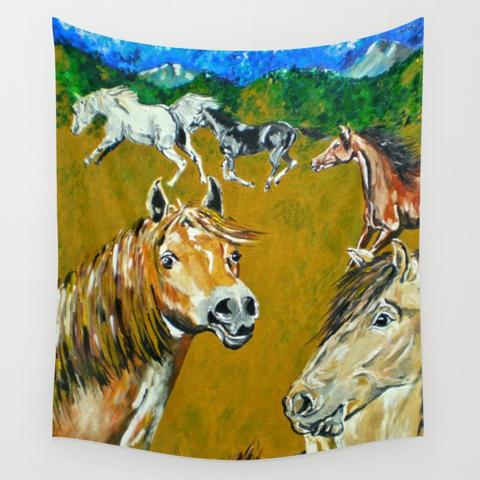 Peruvian Paso Horses Wall Tapestry by evamariaalbrechthoedeman ...