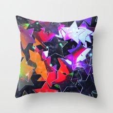 Starry Starry Night Neon (4) Throw Pillow
