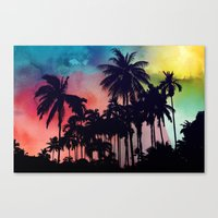 palm tree Canvas Prints featuring palm tree by mark ashkenazi