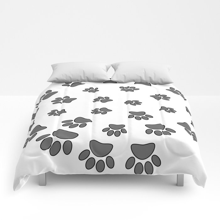 paw print bed sheets