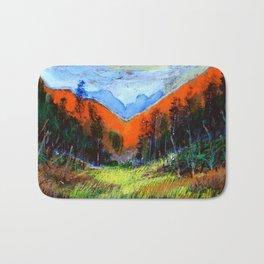 Mountain Meadow Landscape Bath Mat