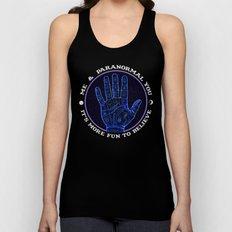 Me & Paranormal You - James Roper Design - Palmistry (white lettering) Unisex Tank Top