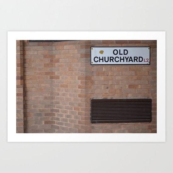 old churchyard part 2 Art Print