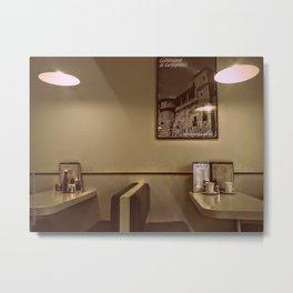 At the Cafe Metal Print