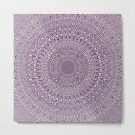 Pastel purple mandala Metal Print