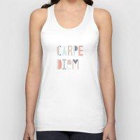 carpe diem Tank Tops featuring Carpe Diem by Amber Barkley