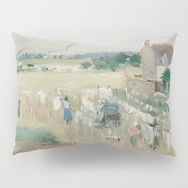 Hanging the Laundry out to Dry by Berthe Morisot Pillow Sham