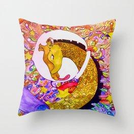 Space Giraffe Throw Pillow