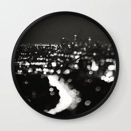 Los Angeles cityscape. L.A. Noir Wall Clock