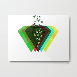 Diamonds Metal Print