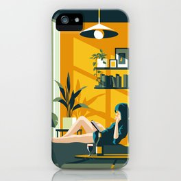 The Blue Hat Girl / Stay Home iPhone Case