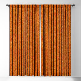 Halloween Stripes of Jagged Barbed Wire Blackout Curtain