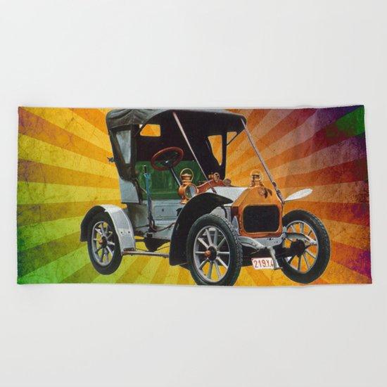 Vintage Car 05 Beach Towel