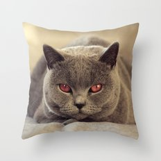 Superstar Diesel the Cat ! Throw Pillow