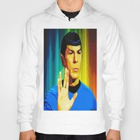 spock Hoodies featuring Spock by The Art Of Gem Starr