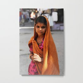 Portrait of a Girl, India '14 Metal Print