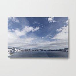 Caldera Blue Metal Print