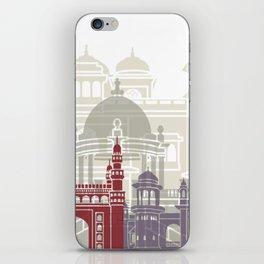 Karachi skyline poster iPhone Skin