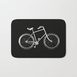 Bike on black Bath Mat