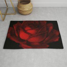 Simple Red Rose Art Rug