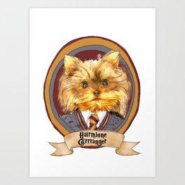 Hairy Pawter's: Hairmione Grrranger Art Print