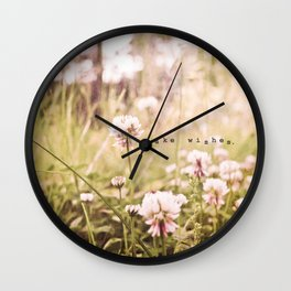 Make Wishes Wall Clock