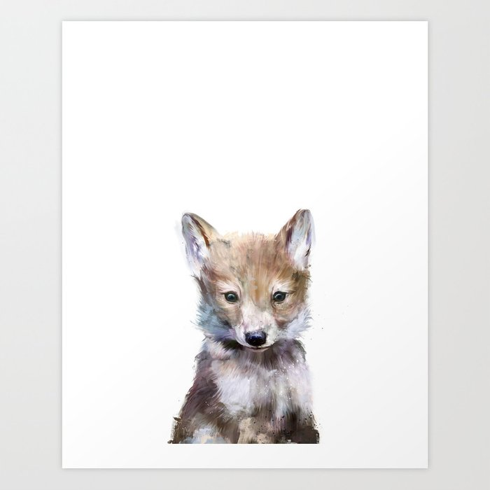 Discover the motif LITTLE WOLF by Amy Hamilton as a print at TOPPOSTER